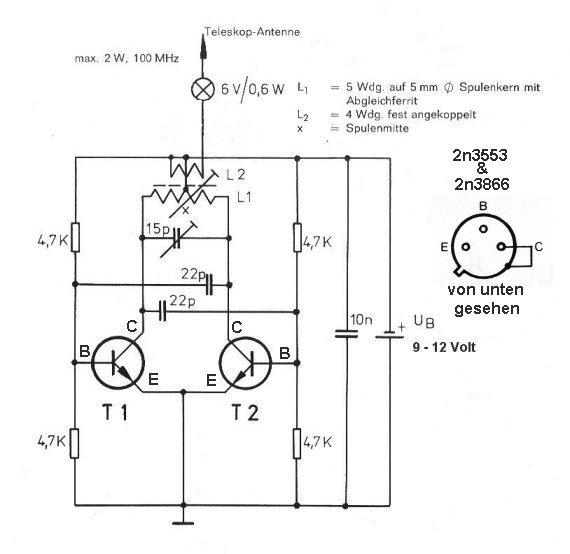 sender 100 mhz bis 600 mhz 1 2 watt. Black Bedroom Furniture Sets. Home Design Ideas